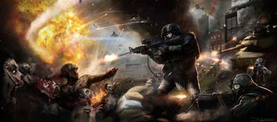 Concept art for the movie adaptation of Max Brook's World War Z