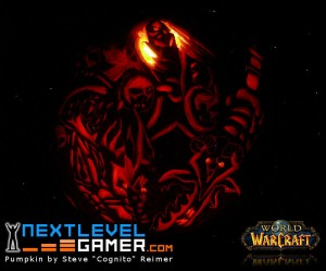 World of Warcraft Pumpkin (Death Knight Arthas)